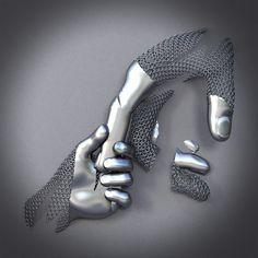 Sculpture by Franck Kuman – Ego – AlterEgo - generous Metal Art Sculpture, Steel Sculpture, Abstract Sculpture, Sculptures For Sale, Wall Sculptures, Art En Acier, Arte Peculiar, Steel Art, Scrap Metal Art