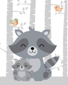 Cartoon Cute Polar Bear Canvas Art Print Painting Poster, Wall Picture for Home Decoration, Wall Decor Woodland Nursery Prints, Deer Nursery, Animal Nursery, Nursery Artwork, Woodland Creatures, Woodland Animals, Baby Poster, Baby Art, Cute Illustration