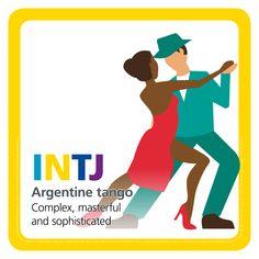 INTJ - Argentine tango - dance MBTI type table