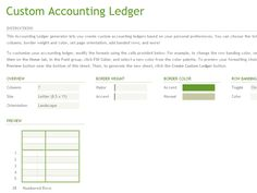How To Create Accounting ledger Sheets Template in Excel