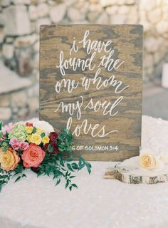 Pretty quote sign: www.stylemepretty... | Photography: Clary Pfeiffer Photography - claryphoto.com/