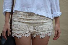 want lace shorts sooooo bad! Boho Fashion, Fashion Beauty, Womens Fashion, Moda Boho, Cute Skirts, Favim, Passion For Fashion, Dress To Impress, Lace Shorts