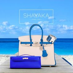 Hermès Birkin in Blue Hydra And Craie Swift Leather with Brushed Palladium Hardware | Special Order | Size 25 cm | Available Now Hermès Kelly Cut Pochette in Blue Electric Epsom Leather and Palladium Hardware | Size 30 cm | Available Now Pictured with Hermès Printed Enamel H Bracelet For purchase inquiries, please contact sales@shayyaka.com or +961 71 594 777 (SMS, WhatsApp, or iMessage) or Direct Message on Instagram (@Shayyaka). Guaranteed 100% Authentic / Worldwide Shipping /