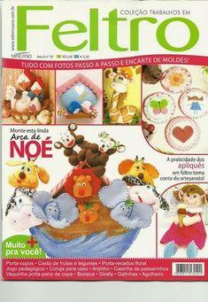 Revistas de Fieltro gratis: moldes para hacer animales en fieltro