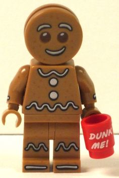 Custom Made Lego Minifigures Gingerbread Man by CosmicToys on Etsy, £5.99