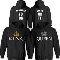 King & Queen [Personalized] Together Since [Your Date] - Matching Couple Hoodies - His and Her Anniversary Sweaters Cute Couple Hoodies, Matching Hoodies For Couples, Couple Shirts, Matching Outfits, His And Hers Hoodies, Cute Couple Outfits, Christmas Shirts, Christmas Outfits, King Queen