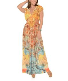 Loving this Yellow Paisley Maxi Dress - Plus on #zulily! #zulilyfinds