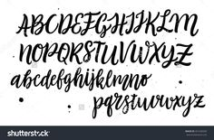 Hand drawn typeface set. Brush painted characters: lowercase and uppercase. Handwritten script font. Typography alphabet for your designs: logo, typeface, web banner, card, wedding invitation.