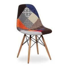 Stockholm Collection Eames DSW Patchwork Accent Chair