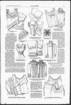 Gracieuse. Geïllustreerde Aglaja, 1895, aflevering 22, pagina 175 - lingerie présentée en 1895 dans La Mode Illustrée
