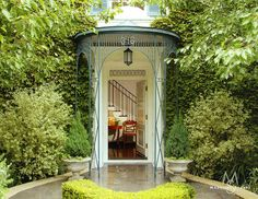 The portico of this Brentwood residence is original to the 1940's era house.