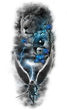 www.customtattoodesign.net wp-content uploads 2014 04 lion.jpg