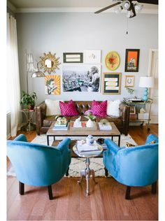 Mix and match side tables to showcase your eclectic taste.