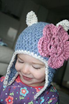 Crochet pattern, crochet cat hat pattern baby hat pattern cat hat pattern with earflaps includes #crochethat #crochetpattern