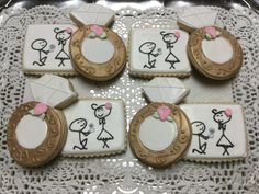 Engagement Decorated Sugar Cookies by I AM the Cookie Lady
