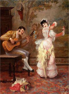 JULES JAMES ROUGERON (1841-1880) The Dancer, 1876