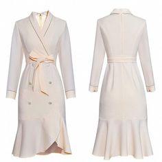 Westfront - Vestido Elegante Preto ou Branco com Botões Jóias - Westfront