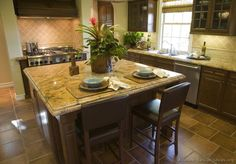 #Kitchen Idea of the Day: Traditional Kitchen Island with Counter-Height Seating.