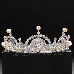 #BFCM #CyberMonday #TbDress - #TBDress Bright Pearls Embellished Rhinestone Wedding Tiara - AdoreWe.com