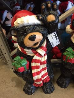 Bear Outdoor Christmas Decoration #SicEm