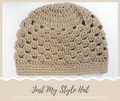 Just My Style Hat Pattern.