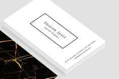 Black & Gold Marble Business Card by Design Co. on @creativemarket