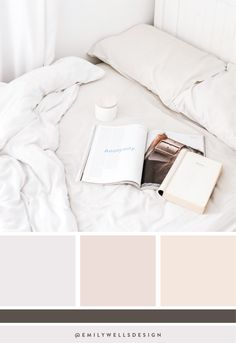 Wonderful Pictures Color Palette white Suggestions Whether you happen to be amateur or maybe an oldtime side, using colouring is usually probably the m Blush Color Palette, Bedroom Colour Palette, Neutral Color Scheme, Bedroom Color Schemes, Colour Schemes, Bedroom Colors, Color Trends, Bedroom Inspo, Color Combos