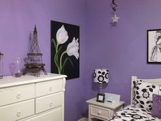 Cool Teenage Girls Bedrooms With Purple Wall