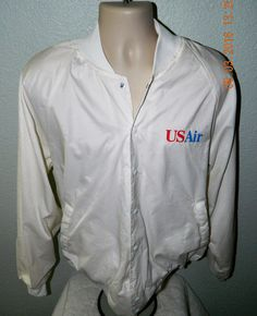 Vintage US AIR  Windbreaker Lined Jacket  XL  Made in USA