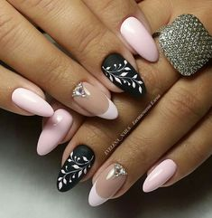 New Must Try Fall Nail Designs And Ideas - Page 17 of 56 - ladynailstyle Diy Nails, Cute Nails, Pretty Nails, Beautiful Nail Art, Gorgeous Nails, Nails Only, Pink Nail Art, Diy Nail Designs, Oval Nails