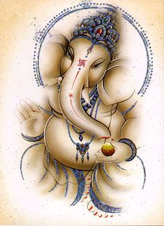 Lord Ganesha Jai Ganesh, Shree Ganesh, Lord Ganesha, Lord Shiva, Indian Gods, Indian Art, Om Sign, Hindu Worship, Ganesha Tattoo