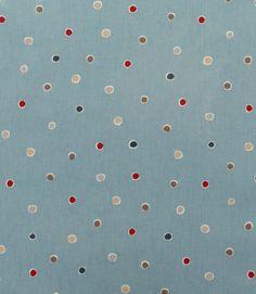 Love this colour spotty PVC  http://www.justfabrics.co.uk/curtain-fabric-upholstery/marine-pvc-seaside-spot-fabric/