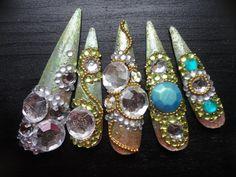 Green Magical Fairy Kawaii Deco Gyaru Nails