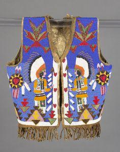 unknown Plateau artist (Plateau), Vest, ca. 1920, glass beads on hide, The Eli