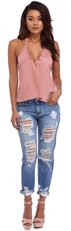 Denim Major Damage Destructed Jeans