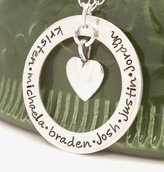 necklaces with children names