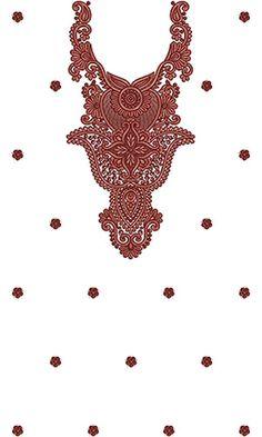 Latest Hot Fashion Dress Embroidery Design