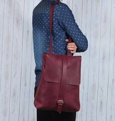 Leather Backpack.  Leather rucksack. Leather backpack