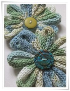 i-cord flower tutorial ❥Teresa Restegui http://www.pinterest.com/teretegui/❥