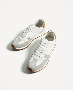 Image 1 of CONTRASTING MATERIAL SNEAKERS from Zara