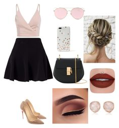 """Cute stile"" by ralucacalota on Polyvore featuring moda, Miss Selfridge, Christian Louboutin, Chloé, LMNT, Kate Spade e Monica Vinader"