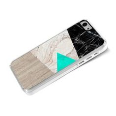 Iphone 5c-Coque-Rigide-Marbre-Triangle-Bois #iPhone #Coque #Case