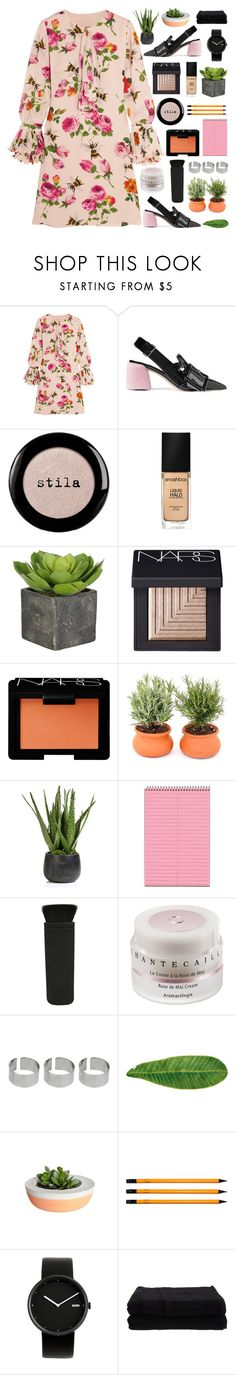 """""""I wanna go fast, without knowing the end"""" by pure-and-valuable ❤ liked on Polyvore featuring Gucci, Miu Miu, Stila, Smashbox, NARS Cosmetics, Zodax, Chantecaille, ASOS, Abyss & Habidecor and American Apparel"""