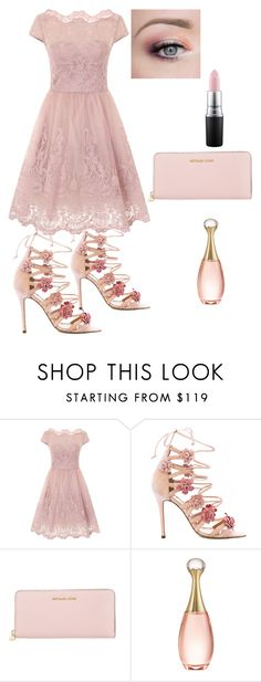 """""""Bez naslova #9"""" by sabypolivore ❤ liked on Polyvore featuring Chi Chi, Marchesa, Michael Kors, Christian Dior and MAC Cosmetics"""