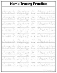 Custom Name Tracing Worksheet - Preview   Create Custom Printables & Worksheets Printable Name Tracing, Name Tracing Worksheets, Printables, Names, Math, Words, Create, Print Templates, Math Resources