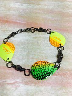 Swivel fishing tackle bracelet ~ mens, ladies, fathers, mothers, bride,grooms,boyfriend, best man, husbands, wife,maid of honor, bridesmaid