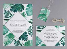Faire-part de mariage - M26-023 Industrial Wedding, Etiquette, Place Card Holders, Fern, Babyshower, Tropical, Child, Draw, Fashion