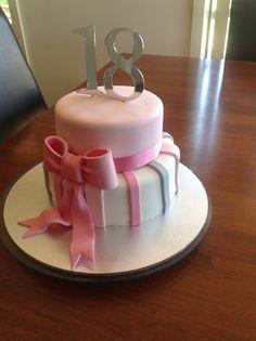 18th Birthday Cake stars bows Gallery Sugar Divas Cakery
