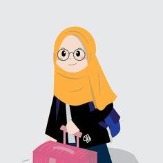 Muslim Pictures, Islamic Pictures, Wallpaper Wa, Cartoon Wallpaper, Girl Cartoon, Cartoon Art, Hijab Drawing, Islamic Cartoon, Anime Muslim