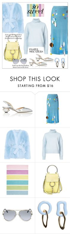 """So sweet...pastel color..."" by nihal-imsk-cam on Polyvore featuring Paul Andrew, Christopher Kane, Diane Von Furstenberg, Nili Lotan, Chloé, MANGO, contestentry, pastelsweater and pollyvoreeditorial"
